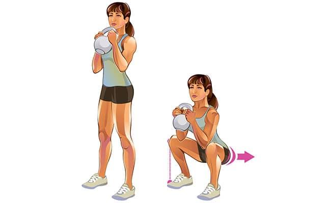 Упражнение недели: кубковые приседания