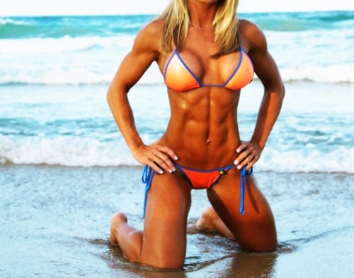 female-abs-beach